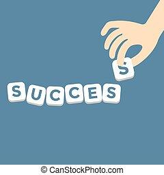 Success concept with piece alphabet