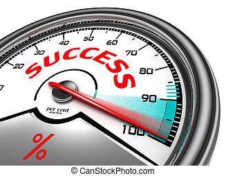 success conceptual meter