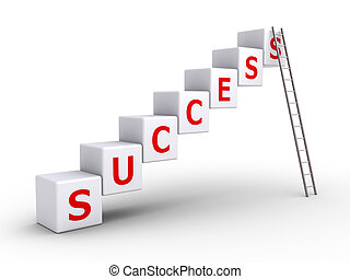 Success cubes and a ladder