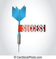 success dart sign illustration design