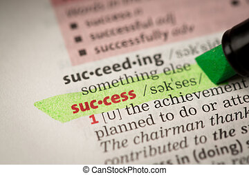 Success definition highlighted in green