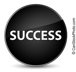 Success elegant black round button