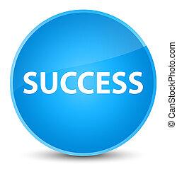 Success elegant cyan blue round button