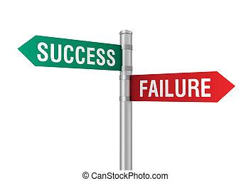 success failure road sign 3d illustration