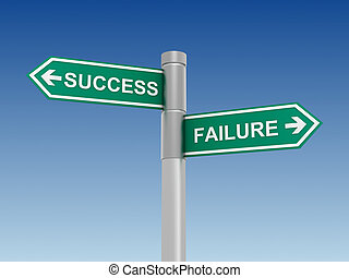 success failure road sign concept illustration