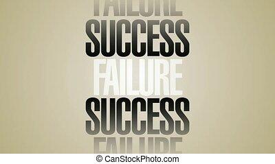 Success Failure Words Spin HD