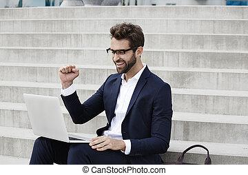 Success for businessman