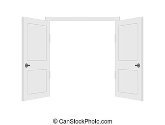 success., frente, hogar, fin, empresa / negocio, concept., oficina, abierto, cerrado, design., interior, vista., door.