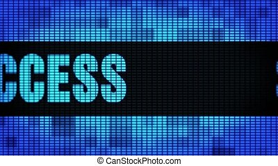 Success Front Text Scrolling LED Wall Pannel Display Sign...