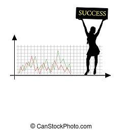 success girl vector silhouette
