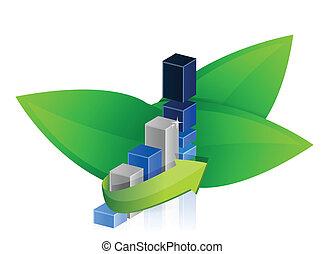success graph in nature illustration design