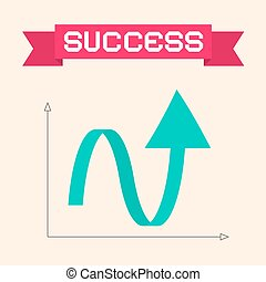 Success Graph Vector Illustration with Arrow