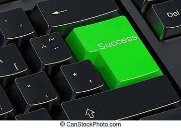 Success green keyboard button