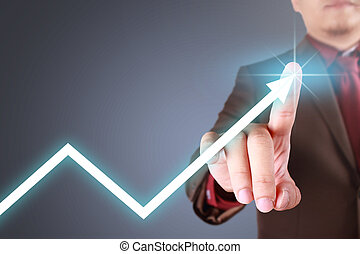 Success Growth Arrow in Business Concept