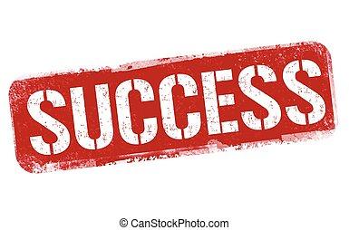 Success grunge rubber stamp