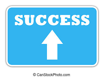 Success highway sign