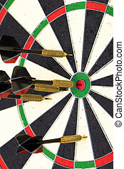 Success hitting target aim goal achievement concept background