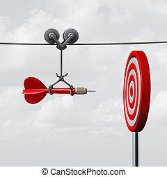 Success Hitting Target - Success hitting target as a...
