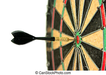 Concept of having business success by throwing darts