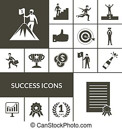 Success Icons Black Set