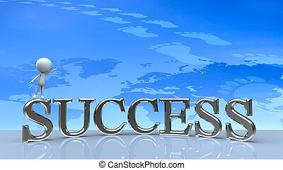 Success in business concept happy