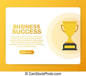 Success in business concept. Vector illustration.
