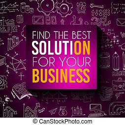 Success in Business conceptual background with a squared panel