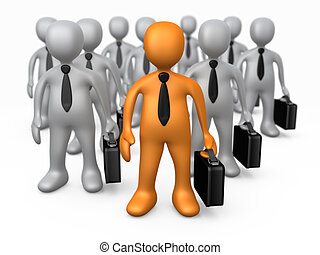 Success In Business - Computer Generated Image - Success In...