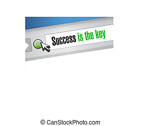 Success is the key website sign