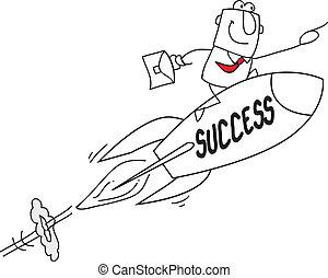 Success - Joe, the businessman on a rocket ! He's the best