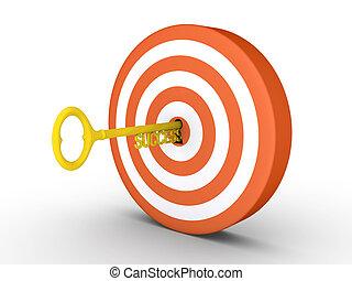 success-key, trou de la serrure, cible