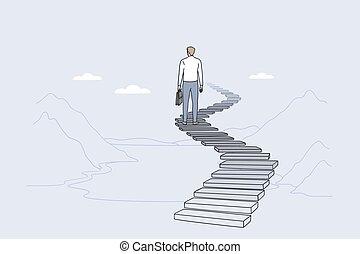 Success, leadership, achieving goal concept