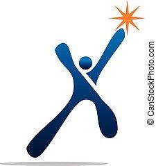 Success Life Logo Design Template Vector
