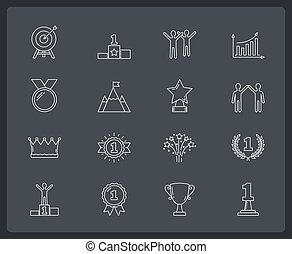 Success Line Icons