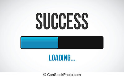 success loading bar illustration design