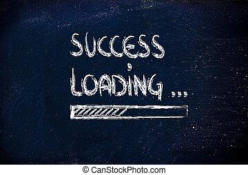 success loading, progress bar on blackboard