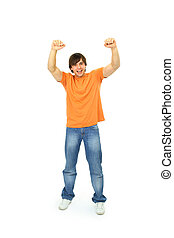 success man isolated over white background