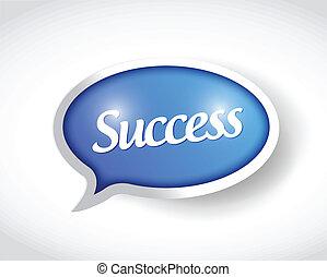 success message bubble illustration design