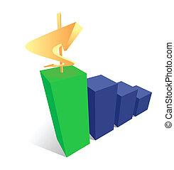 Success money diagram vector design. Finance graph