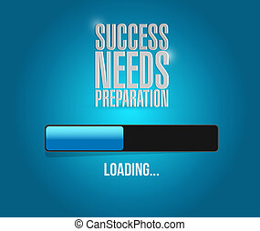 success needs preparation loading bar sign concept ...