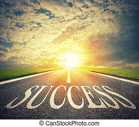 success., negócio, oportunidades, maneira, novo, estrada