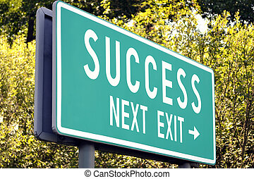 Success - next exit sign