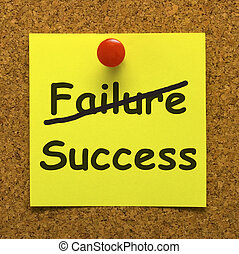 Success Note Showing Achievements Or Wealth - Success Note...