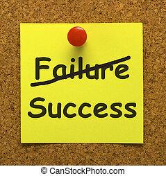 Success Note Showing Achievements Or Wealth - Success Note...