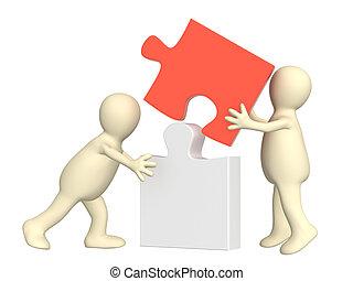 Success of teamwork - Conceptual image - success of teamwork