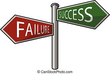 success or failure signpost