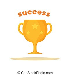 Success Pattern of Bright Cup Vector Illustration