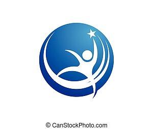 Success people logo design template vector
