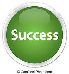 Success premium soft green round button