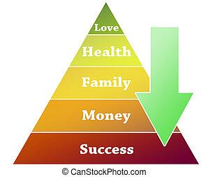 Success pyramid illustration